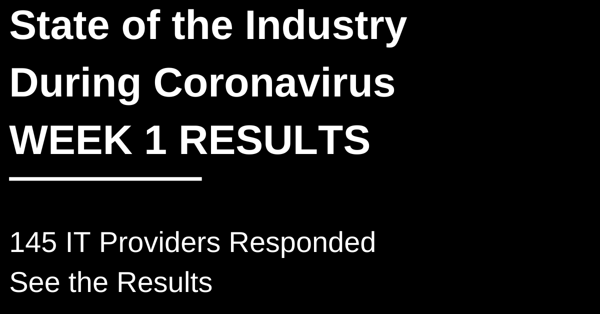 COVID-19 Industry Response Survey: Week One Results